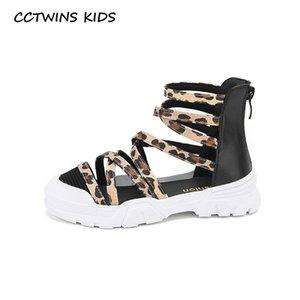 CCTWINS enfants Chaussures 2020 Chaussures d'été Bébé Marque Enfants Mode souple Mode Filles plates Princesse Sandales enfants en bas âge PS883