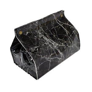 1PC Marble Estilo Tissue Box couro guardanapo Titular Pu tecido de couro Box Car Acessórios