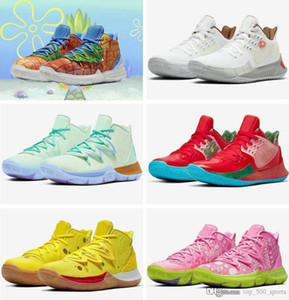 2020 New Sponge x Kyrie Pineapple House 5 Mens tênis de basquete Irving 5s Graffiti Mantenha Sue frescos 20º aniversário Sports Sneakers