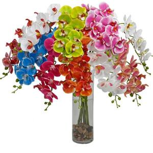 Lifelike artificielle papillon Orchidée fleur en soie Phalaenopsis mariage Accueil bricolage Décoration Fleurs Faux gratuit Envoi LXL976-1