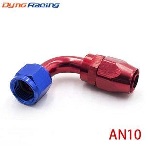De alto rendimiento Montaje de AN10 de aluminio Herrajes de 90 grados de aceite / combustible / giratorios de accesorios de la manguera de extremo de manguera TT100354 Montaje