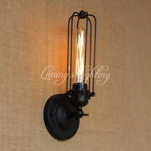 Estilo Mini industrial gaiola Português Loft Vintage ajustável Antique Metal Wall Lâmpada Luz Sconce Lamp Luminárias Cafe Bedroom
