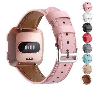 Премиум Кожаный ремешок для браслета Fitbit Versa 2 / Versa Lite замена браслета Band