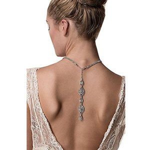 Невеста ожерелье свадебные аксессуары обратно цепи кулон тенденция ожерелье