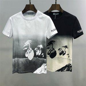 New Mens camisetas Luxo Verão T-shirt Mens shirt fraco respirável listrado Carta Imprimir Moda Casual M-3XL
