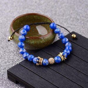 CZ Copper Crown Paar Entfernung Armbänder für Frauen-Mann-rote natürliche StoneCubic Zirkonia Charm Armband
