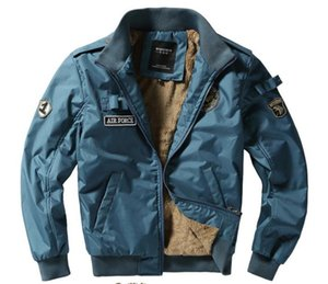Lettre Print Designer Mens Jackets Mode épais Zipper épaulette lambrissé Hommes Pilot Manteaux hommes Vêtements décontractés