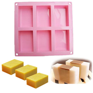 6 cavities silicone soap mold square silicone soap mold Baking Mold Cake Pan Biscuit Chocolate Ice Cube Tray Cake Tools
