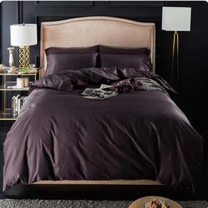 FB18014 미국 간단한 작풍면 침구 세트 안락한 침구 이불 세트 어두운면면 이불 커버 면화 bedsheet 4pcs / set