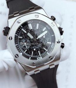 Yüksek Kaliteli Erkek Yeni İzle 26703ST 15710ST Safir Cam 3120 Hareket Otomatik Makine İzle Orjinal Kauçuk Watchband Su geçirmez