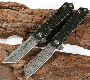 Самурай противоскольжения складной дамасской стали Ручка для кемпинга Карманный нож выживания охоты Открытый Ножи Xmas подарок нож для человека 1шт Adker