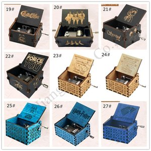 Harry Potter Music Box di legno Game of Thrones Tema mano decorazione Box inciso Retro Music for Kids Brithday Regali elementi della novità E1201