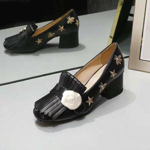 Clássico mediana salto alto barco sapatos Designer couro Ocupação sapatos de saltos Rodada sapatos vestido da cabeça do metal mulher Grande botão tamanho US11 34-42