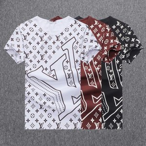 2019 Italie T-shirt T Medusa Polos High Street broderie Little Bee couleuvres rayées impression Vêtements pour hommes Marque Polo