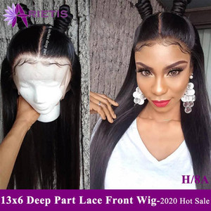 Arietis Remy Hair Wig 13x6 Deep Part Straight Human Hair Wigs With Baby Wholesale Peruvian 2020 New Fashion Hairstyle
