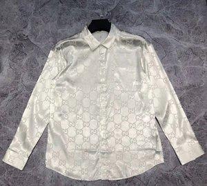2020 nouvelles chemises de décoration lettre design mens mode d'été ~ chemises TAILLE CHINOIS ~ concepteur mens chemises à manches longues