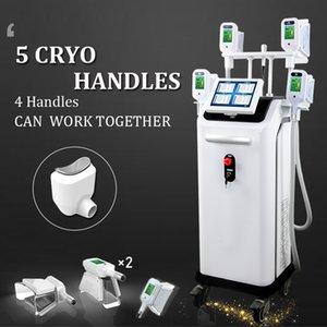 2020 Preço de fábrica 5 Cryo Cryolipolysis alças Fat Congelamento contorno do corpo de vácuo emagrecimento máquina equipamentos de emagrecimento beleza crio