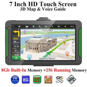 S7 Car GPS Navigator 7 polegadas 8GB Portátil Touch Screen Car Navegação GPS Auto FM Bluetooth Transmissor Europa Mapa da América do Norte