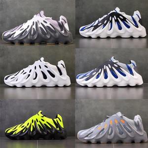 Son kanye west 451 çift tasarımcı ayakkabı özel olarak tasarlanmış erkekler dalga koşucu volkan siyah ve beyaz rahat ayakkabılar