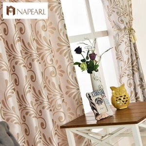 NAPEARL 1 Piece Modern curtain home panel living room European drapes curtains window blinds green black ready window treatments