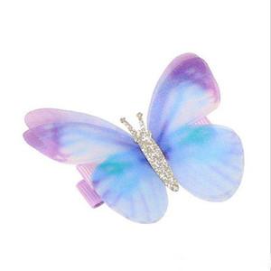 Ins Cute Girl accessorio dei capelli di disegno farfalla colorata Barrettes Girl Accessori capelli bambini gioielli regalo di compleanno tagliatore di capelli