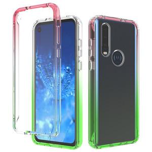 Effacer acrylique transparent Cadre Pare-chocs Dégradé pour Motorola Moto G8 Plus One action Macro E6 Jouer à Anti-rayures Cover