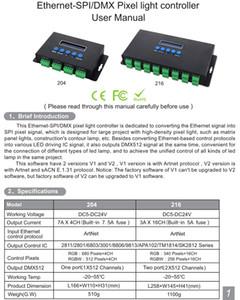 Freeshipping Artnet Ethernet pixel SPI / DMX condotto regolatore chiaro BC-216 protocollo DC5V-24V 3Ax16CH Help Artnet / Artnet e sACN E.1.31