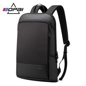 Laptop Backpack BOPAI Slim Zaino sottile Ultralight per 15.6inch Moda Office Work zaino impermeabile business per gli uomini T191021
