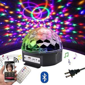 9 цвет LED Bluetooth Speaker Disco Ball Light с MP3-плеер Пром Laser Party Light 18W DJ Stage Light Лазерная проекционная лампа