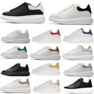 Дизайнер Мужчины Женщины Кроссовки Повседневная Обувь Смарт Тренеры Платформы Светящиеся Люминесцентные Обуви Змея Назад Кожа Chaussures Pour Hommes #22