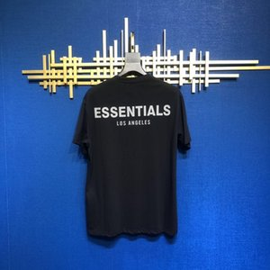 20SS Hip Hop Fear Of God Essentials Los Angeles 3M Reflective Tee Skate Cool Tshirt Fog LA Men Women Cotton Short Sleeve Casual T-Shirt