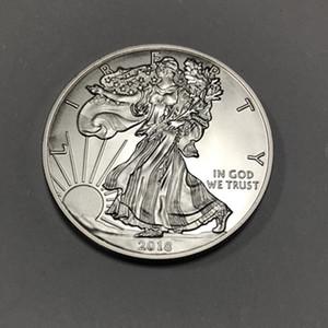 5 pcs Não magnético O relievo 2018 liberdade bueaty coin com cabeça de águia de cabeça para baixo 40mm moeda de recordação