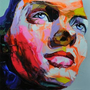 Francoise Nielly Palette Knife Impression Home Decor Artworks Modern Portrait Handmade Oil Painting Canvas Concave and Convex Texture F1067