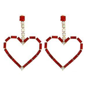 Sevgililer Günü Küpe parlak renkli kolye küpe Avrupa şekilli kalp ve Amerikan yaratıcılık çivili Küpe kalbi tipi