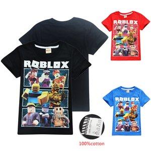 Roblox 키즈 티 셔츠 3 색 4-12t 키즈 소년 소녀 만화 프린트 코튼 T 셔츠 티즈 아이 디자이너 옷 SS118
