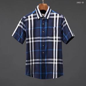 Camisa a cuadros autocultivo de la marca estadounidense 2019, diseñador de moda, camisa de manga larga de algodón, camisa informal, camisa de vestir de rayas, modelo Q7