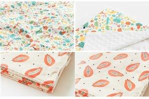 New 2PCS bonito Manta de Bebé Crianças Pillow / Backing Crib Quilt macio Minky Duplo pontilhada FlowerCotton