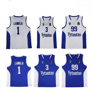 NCAA 2018 Vytautas Lamelo Ball # 1 Ball de Liangelo # 3 Ball de Lavar # 99 Birstono Vytautas Lituanie Tous les maillots de basketball blanche blanche