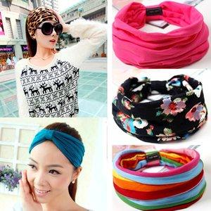 Blumendruck Turban Knoten Headwrap Sport Elastisches Yoga Haarband Mode Baumwollgewebe Breites Stirnband Für Frauen Haarschmuck