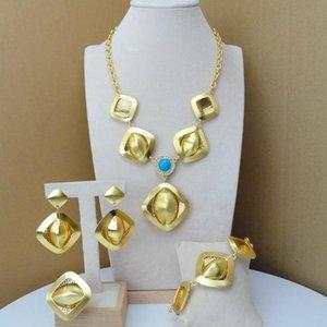 YUMINGLAI DUBAI Costume Jewelry Collar artificial Conjuntos para mujeres FHK7038