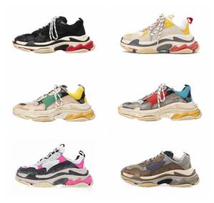 2019 scarpe balenciaga Paris 17W Triple S scarpe firmate lancia le nuove sneakers Dad Fashion Spec scarpe da ginnastica Scarpe uomo Men tripe-S retrò scarpe da ginnastica scarpa