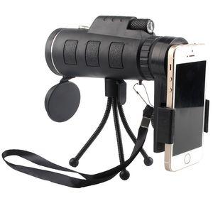 Askeri Monocular izleyerek 40 * 60 Yüksek Çözünürlüklü Mobil Kamera Teleskop ile Tripod Cep Telefonu Klip Açık Fotoğraf Kuş