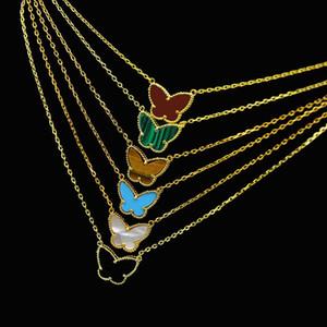 2019 Ближний Восток горячие мужчины и женщины кулон ожерелье 18-каратного позолоченного бабочки в форме агата кулон ожерелье дамы Рождественский подарок