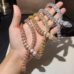 Python Collier Top Bijoux de haute qualité pour femmes Pendentifs Serpent épais collier Collier Fine Custom Custom Luxueux Bijoux AAA Zircon