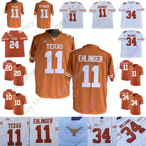 Texas Longhorns Futbol Jersey Koleji Joseph Ossai Collin Johnson Smith Colt McCoy Earl Campbell Connor Williams Thomas Brian Orakpo