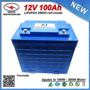Grande capacità della batteria agli ioni di LiFePO4 12V 100Ah ciclo profondo litio per EV HEV auto motorino sistema solare UPS Streetlamp FREE SHIPPING
