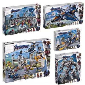 2019 Avengers 4 Endgame Legoinglys 76107 76108 76123 76125 76126 76131 Ultimate Quinjet Set Avengers Building Blocks Brick Toys