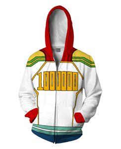 Japan Anime 3D Street My Hero Academia Halloween Casual Long Sleeve Hoodie Baseball Coat Jacket Sweatshirts