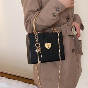 Designer-Black Box design a forma di cuore in pelle fibbia donne dell'unità di elaborazione di spalla della borsa a tracolla casuale del partito di modo borsa del Tote