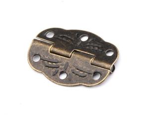30mm خ 22mm و البرونز البسيطة الفراشة مفصلات الأبواب مجلس الوزراء درج المجوهرات مربع المفصلي مع مسامير للأثاث